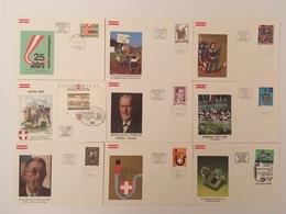 Österreich 1981 Jahrgang FDC Ersttag Komplett - FDC