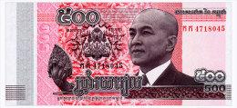 CAMBODIA 500 RIELS 2014 Pick 66 Unc - Cambodia