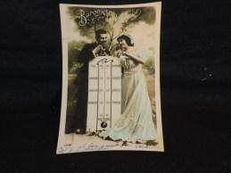 """Thème """" Le Temps """"  Baromètre De L ´ Amour. - Cartes Postales"""