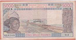 AFRIQUE De L´OUEST - SENEGAL 5.000 Francs De 1982 Pick 708Kf - Andere - Afrika