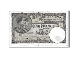 [#111126] Belgique, 5 Francs Type 1922-26 - [ 2] 1831-... : Belgian Kingdom
