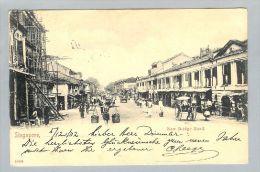AK Singapore 1902-12-12 Foto Strassenleben - Singapour