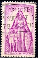 USA 1957 Infantile Paralysis Relief Campaign - 3c Women, Children And Shield  FU - Etats-Unis