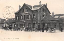 ¤¤   -  5   -   ETAPLES   -   La Gare   - Chemin De Fer   -   Attelages   -  Tampon Du Génie   -  ¤¤ - Etaples