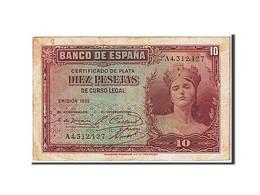 Espagne, 10 Pesetas Type 1935 - [ 2] 1931-1936 : Repubblica