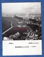 Photo ancienne - ORAN ( Alg�rie ) - Le port - 1960 - Paquebot et bateau de p�che - Boat - Industrie Usine