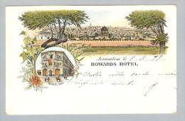 AK Asien Palästina Jerusalem 1899-03-01 Litho Howards Hotel - Palestine