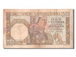 [#304554] Serbie, 500 Dinara Type 1941 - Servië