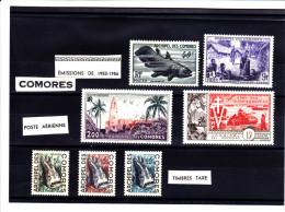 Comores 1953 1956 N° Y Et T 13-14**_ PA 3 Et 4**+ Taxe 3-4 -5 ** - Komoren (1950-1975)