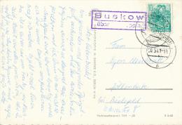 BUSKOW über Neuruppin  - 1961  , Landpoststempel - Poststempel - Freistempel