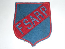 AVIRON BLASON FAIT MAIN - FSARP Fait Main Ancien 03 - RARE - COQ FRANCE ECUSSON TISSU SPORT BATEAU - Aviron