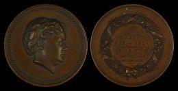 M01876 MARIA ROBYNS Neé WIESEN MEDAILLE MORTUAIRE - LEBACH 21 Oct 1821 BATIGNOLLES 23 Mars 1872 (35.2 G) Charles WIENER - Allemagne