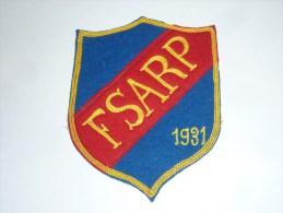 AVIRON BLASON FAIT MAIN - FSARP 1931 - RARE - COQ FRANCE ECUSSON TISSU SPORT BATEAU - Aviron