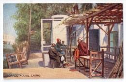 "Cairo, Coffe House, "" Oilette "" Raphaël Tuck & Sons Séries XII, N° 9021 - El Cairo"
