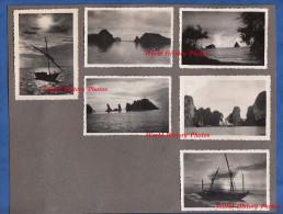 6 Photos anciennes - Environs de PHU LANG THUONG ( Viet Nam ) - La Cote - Bateau de P�che - vers 1950 - Tonkin Indochine