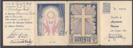 6555-TESSERA AZIONE CATTOLICA ITALIANA-GIOVENTU'-ASPIRANTE MINORE-1940 - Vieux Papiers