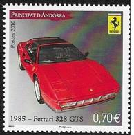 N°  696  ANDORE FRANCAIS -  FERRARI 38 GPS DE 1985  - NEUF  -  2010 - Unused Stamps