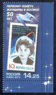 RUSSIA 2013 Stamp MNH ** VF TERESHKOVA SPACE ESPACE WOMAN FEMME ASTRONAUT BIRD VOGEL OISEAU OISEAUX GULL SEAGULL 1717 - Raumfahrt