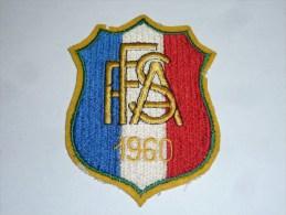AVIRON BLASON FAIT MACHINE - FFSA 1960 - RARE - COQ FRANCE ECUSSON TISSU SPORT BATEAU - Aviron