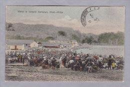 """AK Afrika Kamerun Limba Markt In Victoria 1911-06-27 (Lome) Deutsche Seepost """"XXX9"""" - Cameroun"""