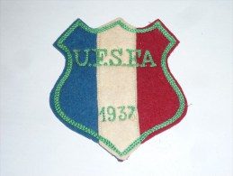 AVIRON BLASON FAIT MAIN - UFSFA 1937 - RARE - COQ FRANCE ECUSSON TISSU SPORT BATEAU - Aviron