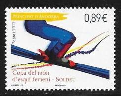 N° 719  ANDORRE FRANCAIS  -  COUPE MONDE SKI FEMININ - NEUF  -  2012 - Unused Stamps