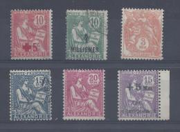 ALEXANDRIE - 1915-17 - 6 TIMBRES OBLITERES & NEUFS  - - Oblitérés
