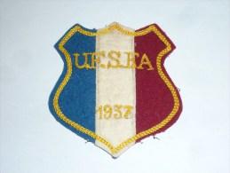 AVIRON BLASON FAIT MAIN - UFSFA 1937 (couleurs Differentes) - RARE - COQ FRANCE ECUSSON TISSU SPORT BATEAU - Aviron