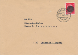 LÖSSNITZ -  1945 , Hitler-Schwärzung - Brief Nach Chemnitz - Soviet Zone