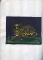 X MAGIC CAT  TECNICA MISTA SU CARTA 24 X 33 - Altre Collezioni
