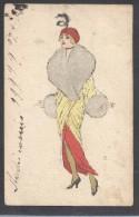 6561-DONNINA CON PELLICCIA-1916-FP - Mujeres