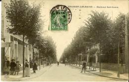 E L D - Enghien Les Bains, Boulevard Sadi-Carnot En 1911- Timbre Semeuse Camée Verte - Enghien Les Bains