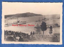 Photo ancienne - Port � identifier - Toulon ? - Manoeuvres de navire de guerre - Bateau Militaire - Marine Nationale