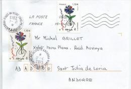 L'Œuvre Nationale Du Bleuet De France (80 Ième Anniversaire), Sur Lettre Adressée En Andorre - France
