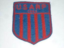 AVIRON BLASON FAIT MAIN - USARP 1926 - RARE - COQ FRANCE ECUSSON TISSU SPORT BATEAU - Aviron