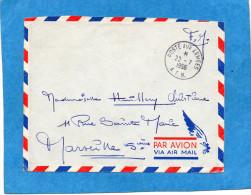 MARCOPHILIE- Lettre F M Cad  1956-poste Aux ArméesSP  86358 -pour Françe- - Marcophilie (Lettres)