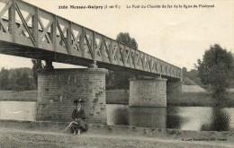 CPA - MESSAC-GUIPRY (35) - Le Pont Métallique Du Chemin De Fer De La Ligne De Ploëmel - Altri Comuni