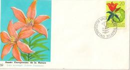 Timbre - Liechtenstein - FDC 1970 - Année Européenne De La Nature - Lys Orangé (fleur)
