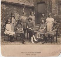 DIEPPE (76) / COLLEGE De JEUNES FILLES 1921 1922 / CLICHE H TOURTE / PHOTO ORIGINALE SUR CARTON  / GRAND FORMAT - Lieux