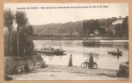 Environ De ROUEN - Bac Faisant La Traversée De Grand-Couronne Au Val De La Haye - Texte Intéréssant Situant Le LIEU - Francia