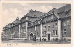 L�TZEN Ostpreu�en Kaserne belebt Schilder wache  Fu� Artillerie Regiment I/82 Feldpost gelaufen 2.3.1915 Giżycko