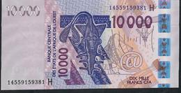 W.A.S. NIGER P618Hn 10000 Or 10.000 FRANCS (20)14    2014 UNC. - Niger