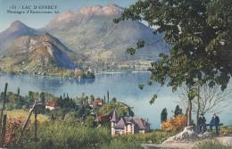 Cp , 74 , LAC D´ANNECY , Montagne D'Entrevernes - Annecy