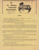 ESPERANTO : Maison Culturelle Espérantiste Château De Grésillon Baugé Maine Et Loire (voir Lot 310073352) - Documents Historiques