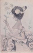 B. PATELLA     JEUNE FILLE AUX FLEURS.   A SIGNALER MINUSCULES  TROUS  GROSSEUR TETE D'ÉPINGLE  VOIR SCAN - Autres Illustrateurs