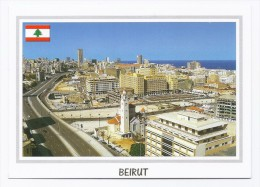 Beirut under construction ,  postcard Lebanon, carte postale Liban