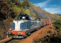 CPM LE RAIL USSELLOIS N° 224 BB 66190 Et 66244 Peu Après USSEL 19 - Trenes