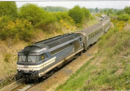 CPM LE RAIL USSELLOIS N° 226 BB 67311 En Approche De La  Gare D´EYGURANDE - MERLINES 19 - Trains