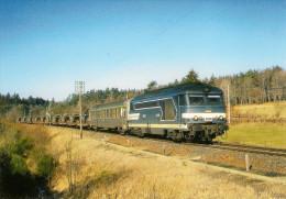 CPM LE RAIL USSELLOIS N° 227 BB 67410 Près De CHALONS D'AIX 19 - Trenes