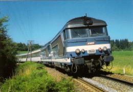 CPM LE RAIL USSELLOIS N° 228 BB 67550 Et 67412  Près De CHALONS D´AIX 19 - Trenes